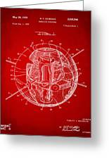 1958 Space Satellite Structure Patent Red Greeting Card
