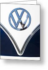 1958 Volkswagen Vw Bus Emblem Greeting Card