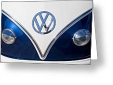 1958 Volkswagen Vw Bus Hood Emblem Greeting Card