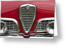 1959 Alfa Romeo Giulietta Sprint Grille Greeting Card by Jill Reger