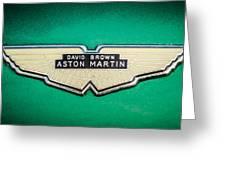 1959 Aston Martin Db4 Gt Hood Emblem -0127c Greeting Card