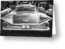1959 Buick Electra 225 Bw Greeting Card