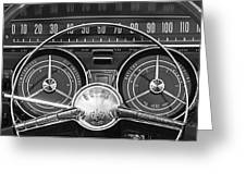 1959 Buick Lasabre Steering Wheel Greeting Card