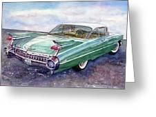 1959 Cadillac Cruising Greeting Card