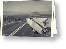 1959 Cadillac Eldorado Convertible Ambrotype Greeting Card
