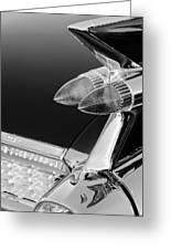 1959 Cadillac Eldorado Taillight -075bw Greeting Card