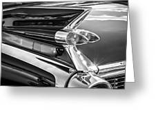 1959 Cadillac Eldorado Taillight -097bw Greeting Card