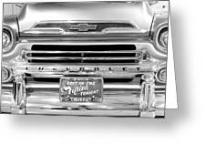 1959 Chevrolet Apache Bw 012315 Greeting Card