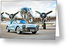 1959 Chevrolet Corvette Greeting Card
