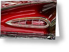 1959 Chevrolet Taillight Greeting Card