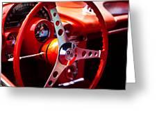 1959 Chevy Corvette Steering Wheel Greeting Card