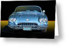 1959 Corvette Front View Greeting Card
