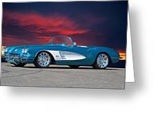 1959 Corvette Fuel Injected Greeting Card