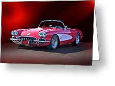 1959 Corvette Roadster 2 Greeting Card