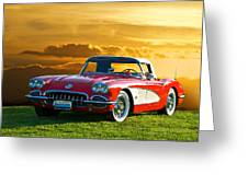 1959 Corvette Roadster Greeting Card