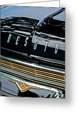 1959 Desoto Adventurer Hood Emblem Greeting Card