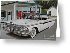 1959 Edsel Ranger Greeting Card