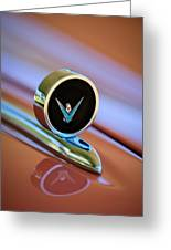 1959 Ford Thunderbird Convertible Hood Ornament Greeting Card