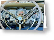 1959 Ford Thunderbird Convertible Steering Wheel Greeting Card