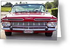 1959 Impala Hardtop Sport Coupe Greeting Card