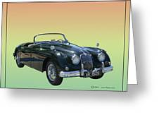 1959 Jaguar 150 S S Drop Head Coupe Greeting Card