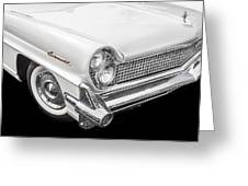 1959 Lincoln Continental Chrome Greeting Card