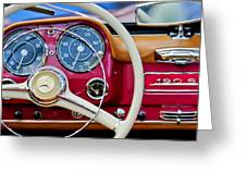 1959 Mercedes-benz 190 Sl Steering Wheel Greeting Card