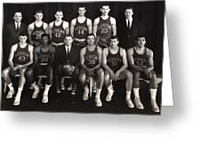 1959 University Of Michigan Basketball Team Photo Greeting Card