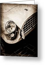 1960 Ac Aceca Grille Emblem -0058s Greeting Card