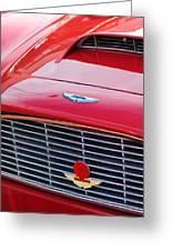 1960 Aston Martin Db4 Grille Emblem Greeting Card