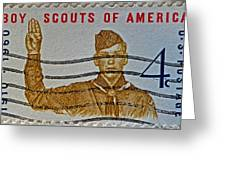 1960 Boy Scouts Stamp Greeting Card