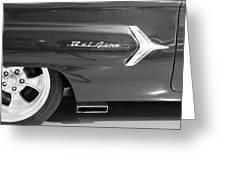 1960 Chevrolet Bel Air 3bw 012315 Greeting Card