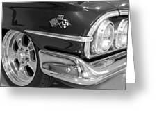 1960 Chevrolet Bel Air Bw 012315 Greeting Card