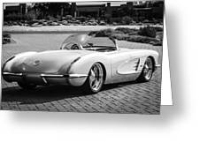 1960 Chevrolet Corvette -0880bw Greeting Card