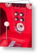 1960 Chevrolet Corvette Control Panel Greeting Card