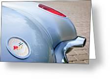 1960 Chevrolet Corvette Emblem - Taillight Greeting Card by Jill Reger