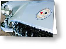 1960 Chevrolet Corvette Hood Emblem Greeting Card