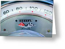 1960 Chevrolet Corvette Speedometer Greeting Card by Jill Reger
