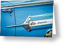 1960 Chevrolet Impala Emblem -340c Greeting Card