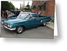 1960 Chevy El Camino Greeting Card
