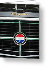 1960 Chrysler 300f Convertible Grille Emblem Greeting Card