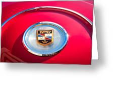 1960 Chrysler Imperial Crown Convertible Emblem Greeting Card
