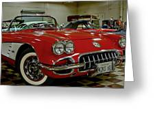 1960 Corvette Greeting Card