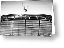 1960 Desoto Fireflite Two-door Hardtop Grille Emblem -0931bw Greeting Card