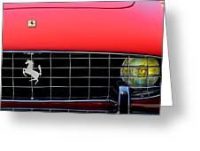 1960 Ferrari 250 Gt Cabriolet Pininfarina Series II Grille Emblem Greeting Card