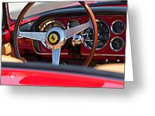 1960 Ferrari 250 Gt Cabriolet Pininfarina Series II Steering Wheel Emblem Greeting Card by Jill Reger
