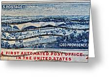 1960 First Automated Post Office Stamp Providence Rhode Island Greeting Card
