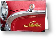 1960 Ford Galaxie Starliner Hood Ornament - Emblem Greeting Card