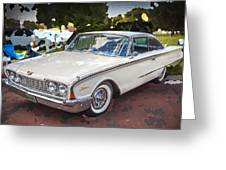 1960 Ford Starliner Greeting Card