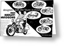 1960 Harley Davidson  Greeting Card